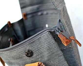 Zipper closure add on bag, Custom upgrade zippered closure, personalised InconnuLAB bags and backpacks