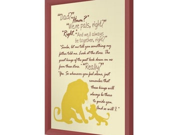 And So Will I, Lion King, Mufasa, Simba, Father and Son Quote Print
