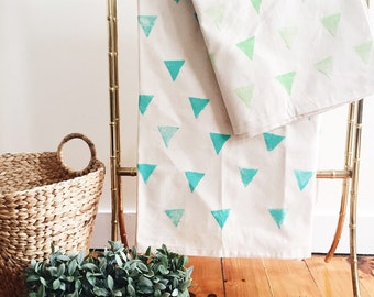 Triangle painted picnic blanket
