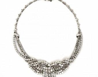 Antique Stunning Diamond Platinum Fringe Necklace, #387501