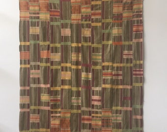 Antique Ewe Kente Cloth Textile Wall Hanging 1940s