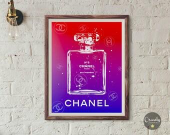 Chanel, Chanel inspired, coco chanel, Chanel perfume bottle, chanel print, chanel poster, chanel printable, chanel perfume print, wall art