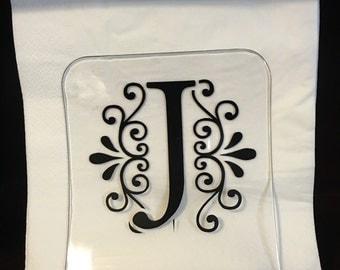 "SALE** ""J"" Acrylic Napkin Holder"