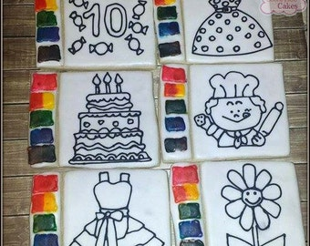 Paint your own/ Color your own Sugar Cookies 6 cookies