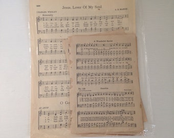 Vintage Sheet Music - 10 pages