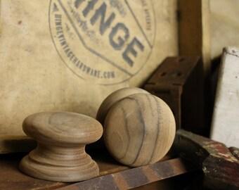 """Set of Walnut  2 1/2"""" diameter knobs Item#121"""