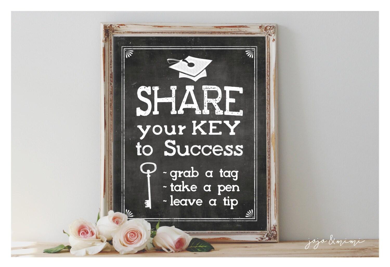instant  u0026 39 share your key to success u0026 39  printable by jojomimi on etsy
