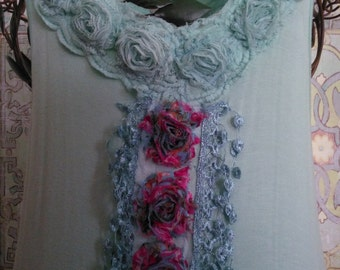 Women's handmade top / dress / fairy top / Upcycled top / Upcycled dress /repurposed top / dress