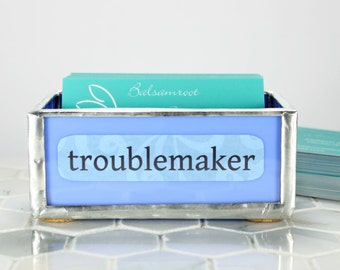 Glass Business Card Holder, Functional Glass Card Display,Desk Decor,Cubicle Office Business Card Organizer,Office Decor, Coworker Gift