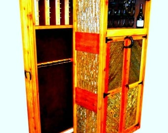 Gun Cabinet & Wine Rack, Custom designed, handmade