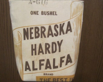 NEBRASKA HARDY ALFALFA Seed Sack Purse