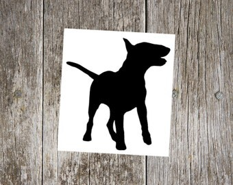 English Bull Terrier v2 decal, English Bull Terrier sticker, english bull terrier car window decal, car window sticker, gift for dog lover