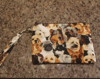 Dog lovers wristlet/clutch