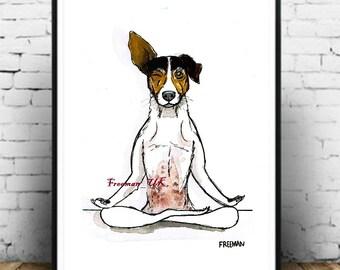 Yoga Dog.  Advance Training for Dogs! Art Print