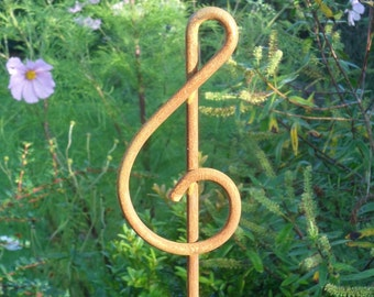 "Rusticks ""Clef"" plant stakes. Pack of three stakes."