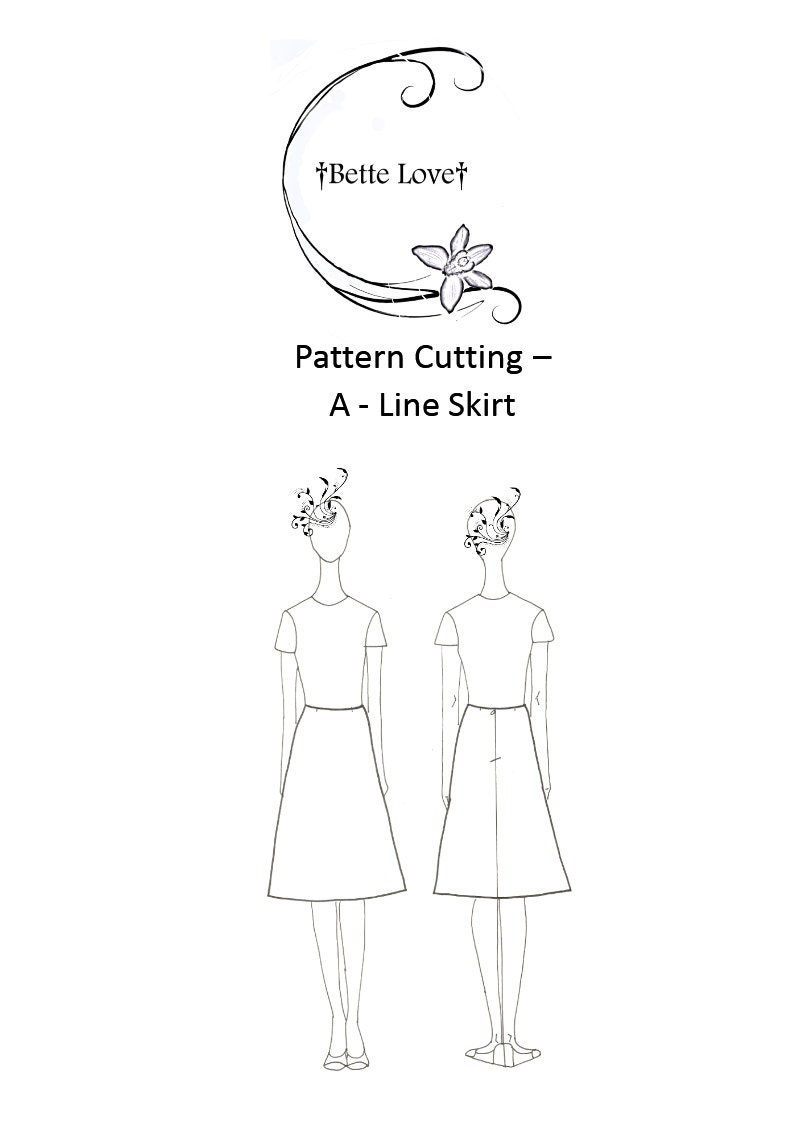 sew bette so you pattern cutting a line skirt