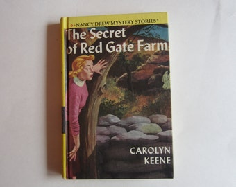 Nancy Drew The Secret of Red Gate Farm, Nancy Drew Number 6, Nancy Drew vintage book, 1980s Nancy Drew book, Nancy Drew mystery