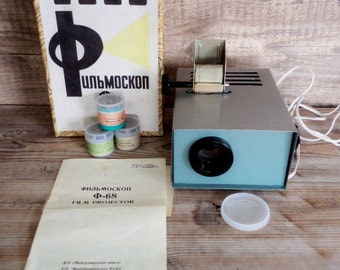 Vintage Filmstrip Projector, Slide Film Projector, Filmoscop, USSR, 1978, Film Projector, Soviet Era Collectibles