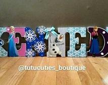 Frozen Themed Letters