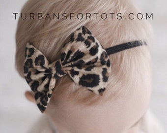 Cheetah Baby bow