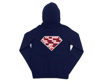 Various: Superheroes Mens Zip-up Hoodie