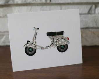 Scooter Note Cards Vespa Note Cards