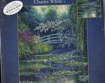 Monet Japanese Bridge Picture Cross Stitch Kit - NEW UNOPENED Free Shipping USA