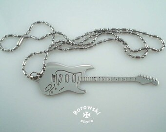 FREE SHIPPING Fender Electric Guitar  pendant necklace