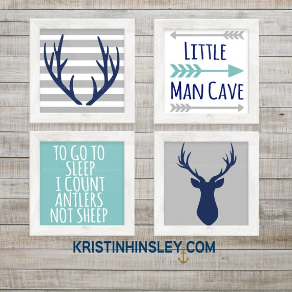 Little Man Cave Signs : Items similar to deer nursery printable signs set of