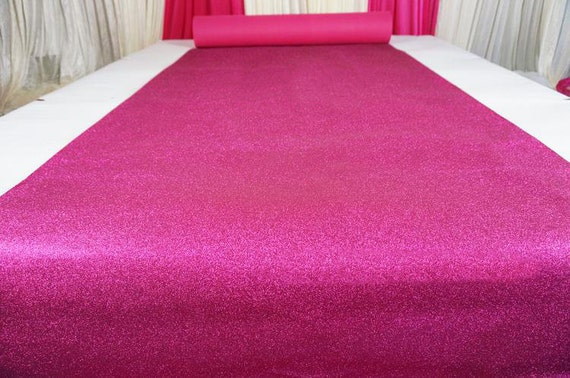 Fuschia Glitter Leather Fabric For Wedding Aisle RunnerStage