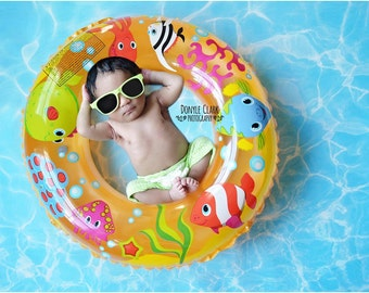 Splash! Pool Water Vinyl Photography Backdrop- Fake water Floordrop - (FD6018)