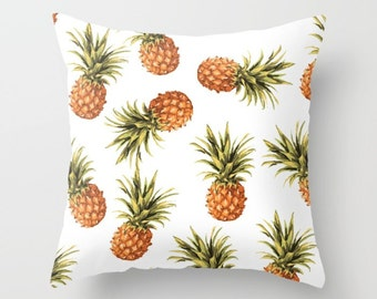 Pineapple Pillow Cover - Pineapple Cushion Cover - Pineapple Decor Modern Decor - Tropical Pillow Cover - 18x18 or 20x14 - Decorative Pillow