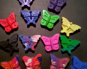 30 butterfly crayons