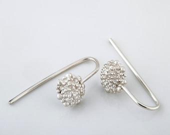 Sterling Silver Dangle Earrings, Silver Bridesmaid Jewelry, Small Earrings, Silver Wedding Earrings, Elegant Earrings, Silver Boho Earrings