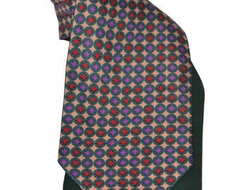 Vintage Estate Silk Multicolored Made in England Ascot Tie
