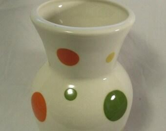 Vase, Ferramato, San Francisco, Polka Dot Motif, 1980's