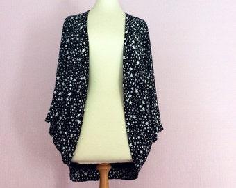 Star print jacket kimono shrug made to order