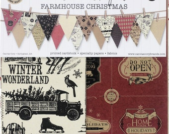 Canvas Corp Farmhouse Christmas. 12x12 Pad  Acid and lignin free.     (50% off, was 13.00)