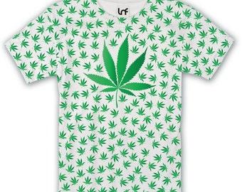 Cannabis Leaf Full Coverage Mens T-Shirt (SB1182)