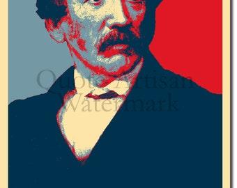 David Livingstone Original Art Print - Photo Poster Gift