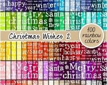SALE 100 christmas digital paper santa digital paper christmas pattern christmas printable clipart 12x12 pastel neutral bright dark