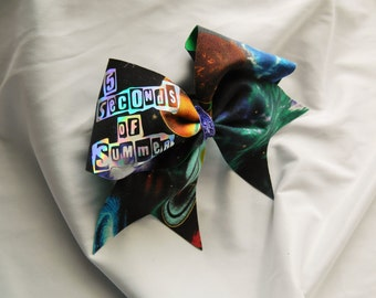 5 Seconds of Summer 5SOS in Galaxy Cheer Bow Hair Bow
