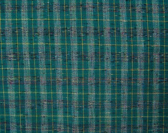Dark green plaid Fabric vintage cotton skirt pillow home decor
