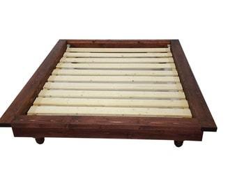 platform bed platform bed with ledge bohemian bed low profile bed wood bed custom bed delilah platform bed