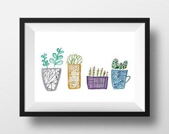 can't keep my plants to myself print