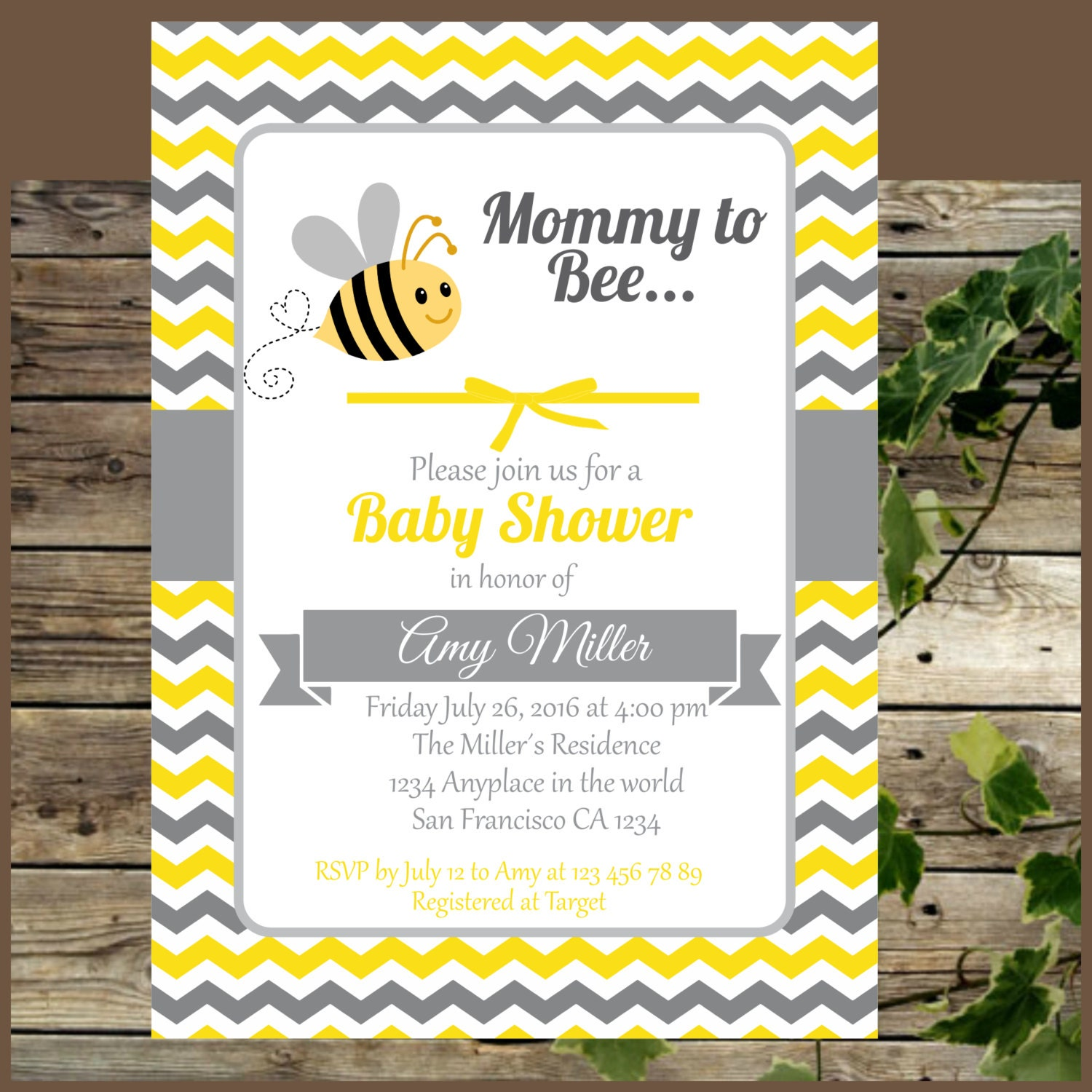 baby shower invitation printable bumble bee baby by isidesigns