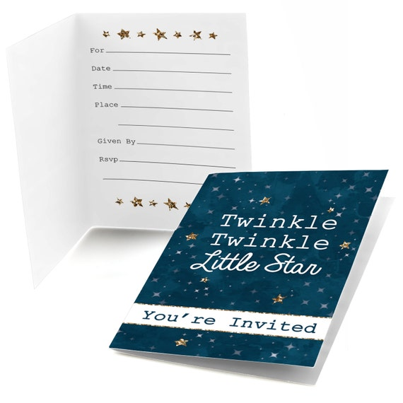 Twinkle twinkle little star fill in invitations baby shower il570xn filmwisefo
