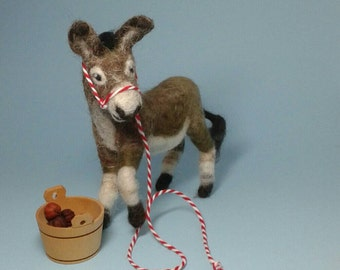 Donkey needlefelted
