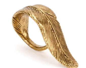 Feather Ring | Gold (Brass)