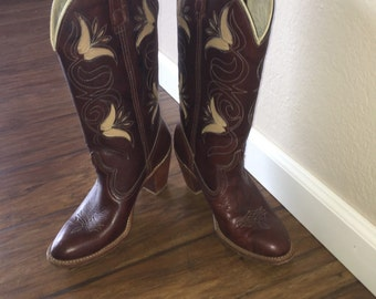 Vintage Dingo Cowgirl Boots
